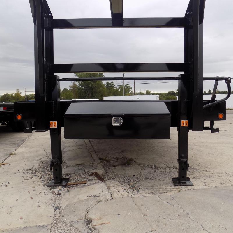 """New Big Tex 102"""" x 20' + 5' Gooseneck Trailer W/ Mega Ramps"""