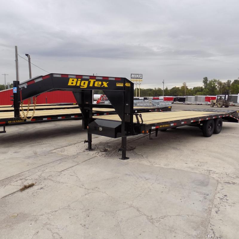 "New Big Tex 102"" x 20' + 5' Gooseneck Trailer W/ Mega Ramps"