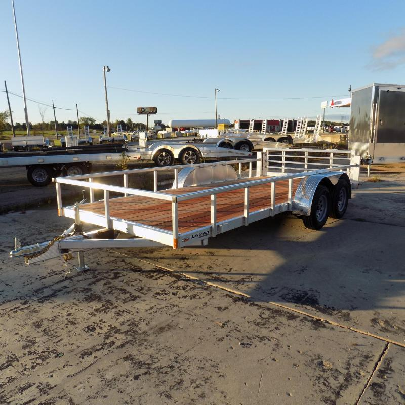 New Legend Open Deluxe 7' x 16' Aluminum Utility Trailer For Sale - Financing Available