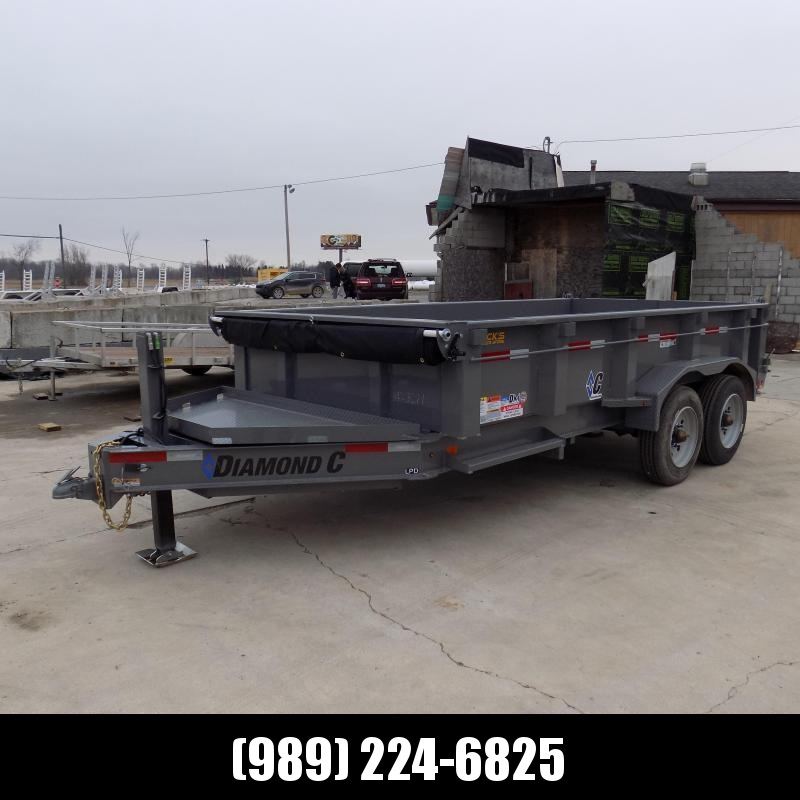 "New Diamond C 82"" x 14' Low Profile Dump Trailer With 10K Torsion Axles & Hydraulic Jack - $0 Down Fianancing Available"
