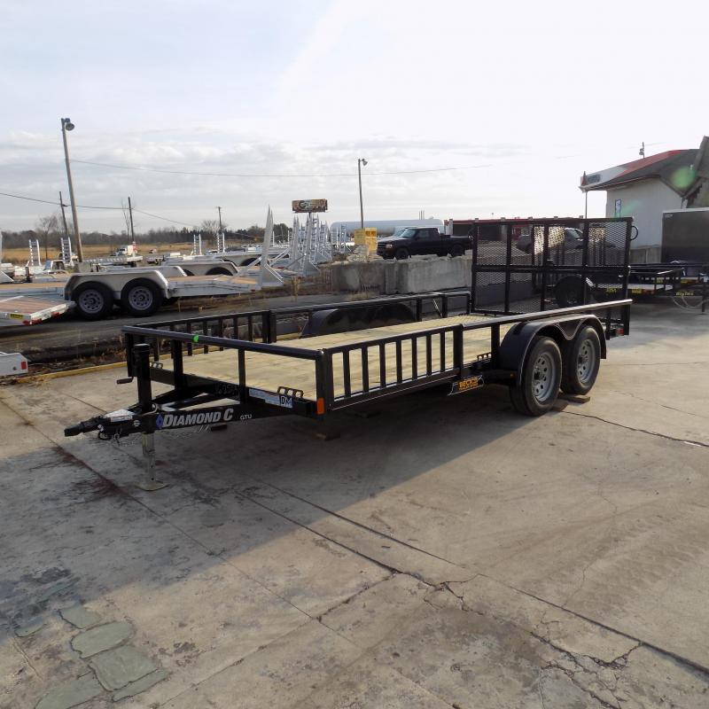 "New Diamond C Trailers 83"" x 16' Open Utility Trailer w/ Bi-Fold Rear Gate - Payments from $79/mo. W.A.C."