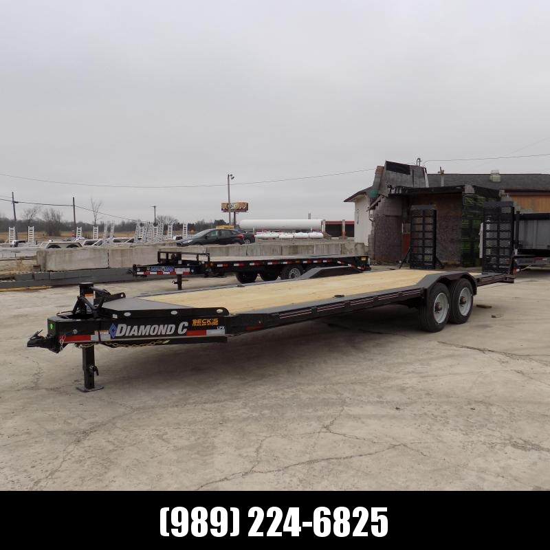 "New Diamond C Trailers 82"" x 24' Heavy Duty Equipment Trailer - 10K Axles - $0 Down & Payments from $149/mo. W.A.C."