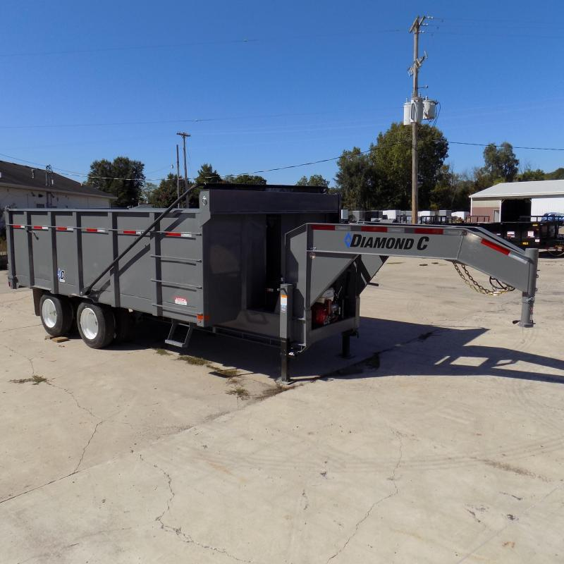 "New Diamond C Trailers Workhorse 96"" x 16' Dump Trailer W/ 25900# Weight Rating"