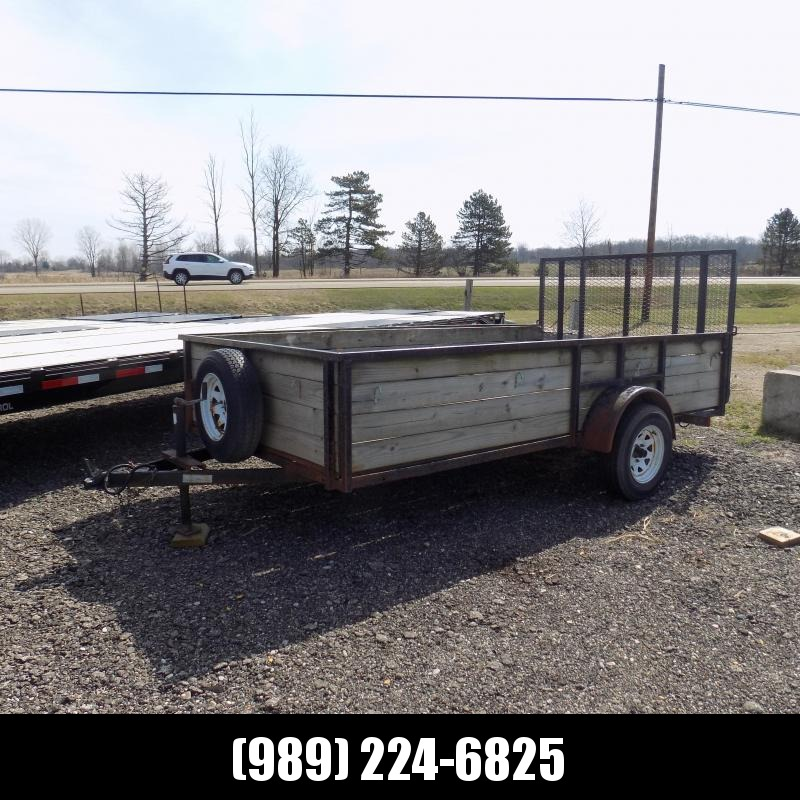 """Used 77"""" x 12' High Side Utility Trailer For Sale"""