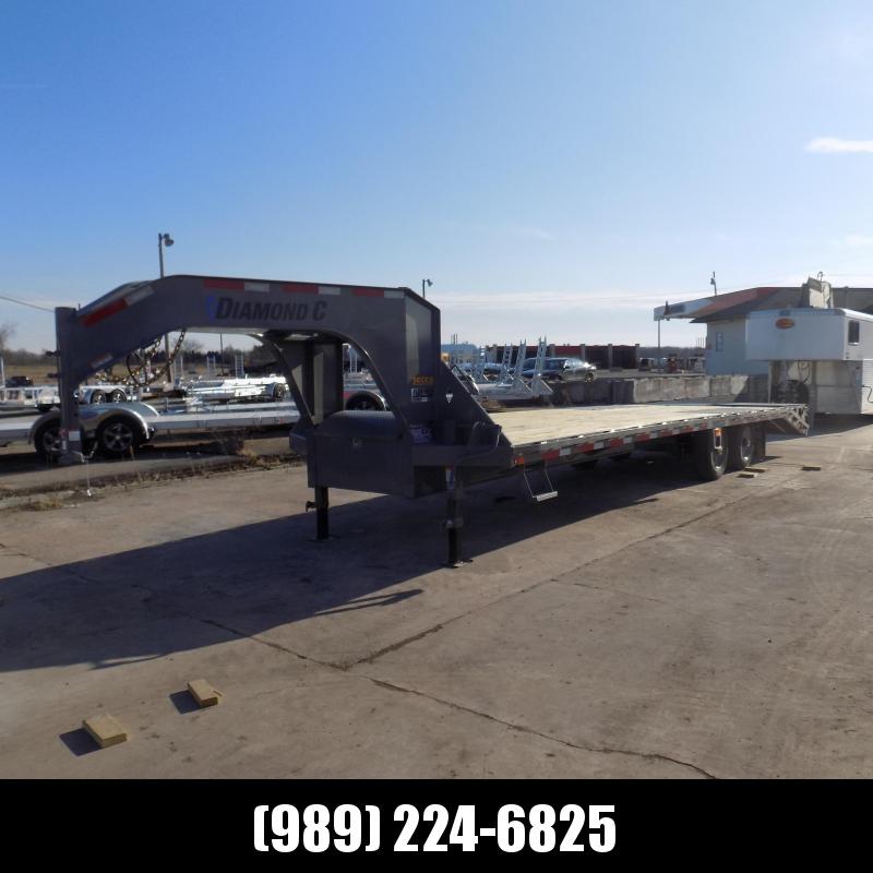 "New Diamond C Trailers 102"" x 30' Gooseneck Equipment Trailer W/ 10K Axles - $0 Down Financing Available"