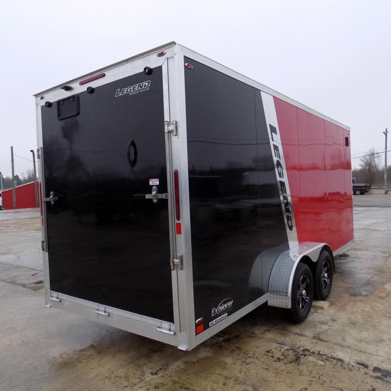 New Legend Explorer 7' x 23' Snowmobile Trailer From $135/mo. W.A.C - Guaranteed Best Deal