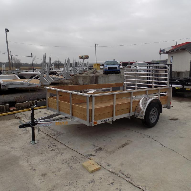 New Legend 6' x10' Aluminum 3 Board High Side Utility Trailer - $0 Down & Payments From $55/mo. W.A.C.