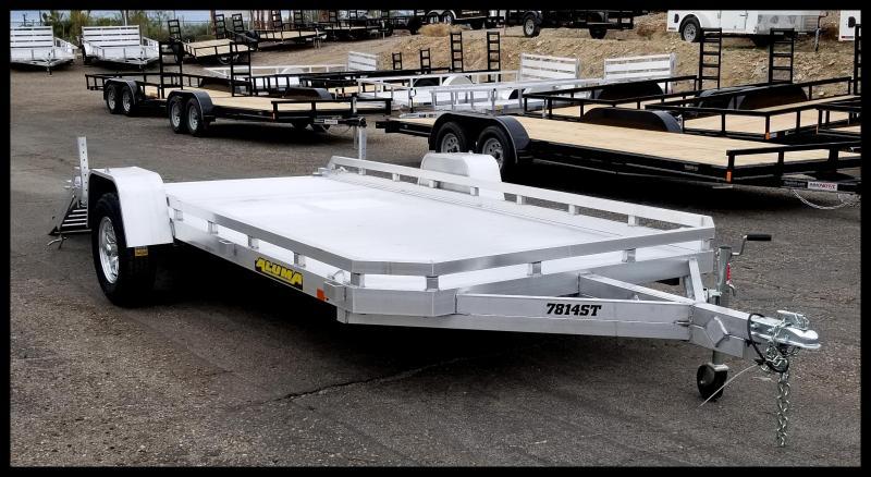 2020 Aluma 7814TA-EL-TR-RTD Flatbed Trailer