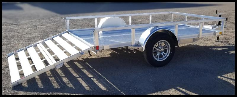 2020 H and H Trailer 8(76)X10 Aluminum Railside Utility Trailer