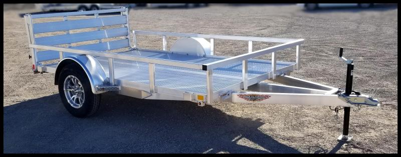 2020 H and H Trailer 8(76)X10 Aluminum Railside Utility Trailer