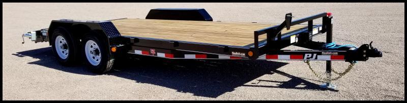 "2020 PJ Trailers 83"" x 18' Equipment/Car Hauler Flatbed Trailer"