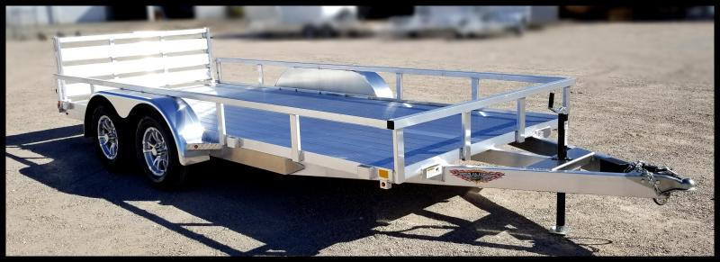 2020 H and H Trailer 8.5(82)X16  Aluminum Tandem Axle Utility Trailer