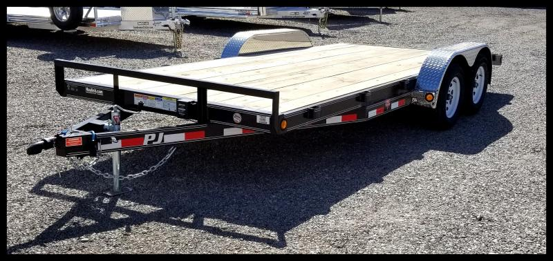 2020 PJ Trailers 83 x 16' Car Hauler Flatbed Trailer