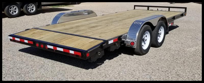 2020 PJ Trailers 83 x 18' Car Hauler Flatbed Trailer