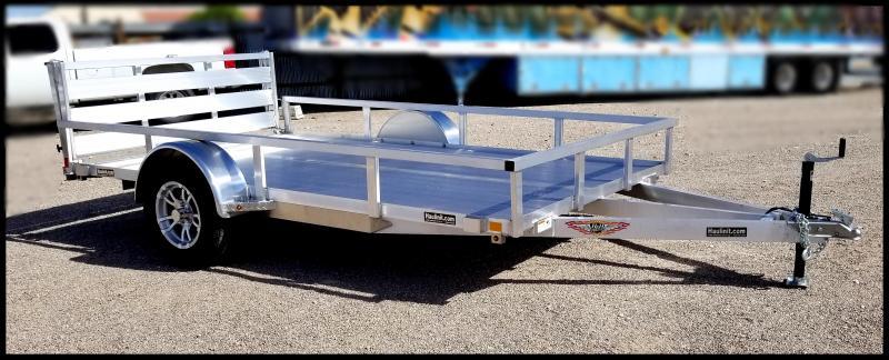 2019 H & H Trailers 76 x 10 Aluminum Single Axle Utility