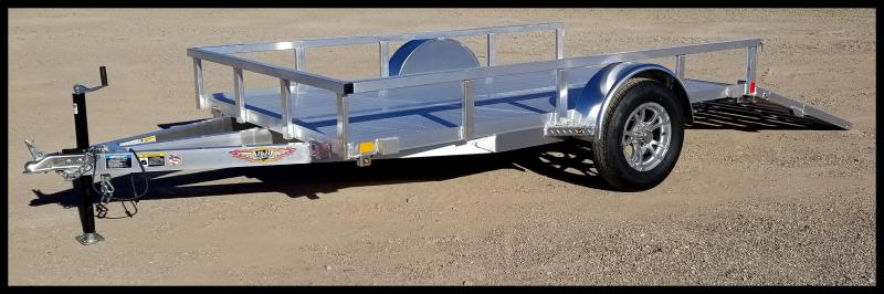 2020 H and H  8(76) x 10 Aluminum Railside Utility Trailer