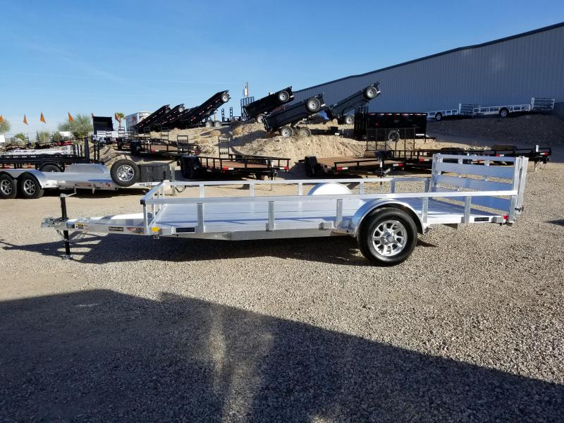 """2019 H and H  82"""" x 14 Utility Aluminum Trailer"""