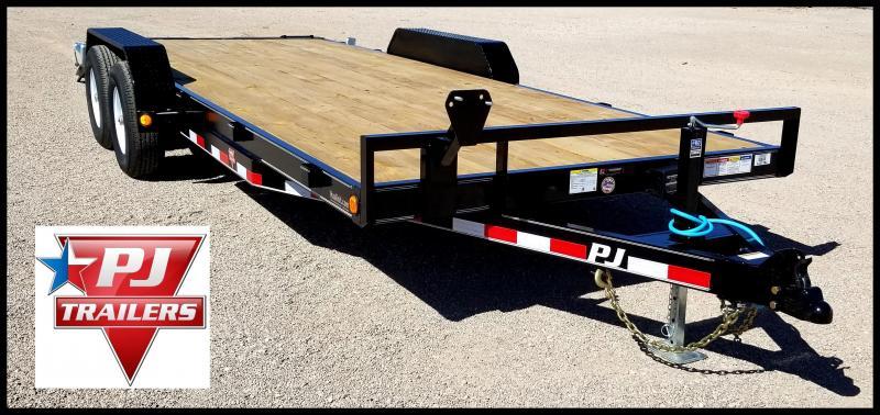 "2020 PJ 83"" x 20' Equipment/Car Hauler Flatbed Trailer"