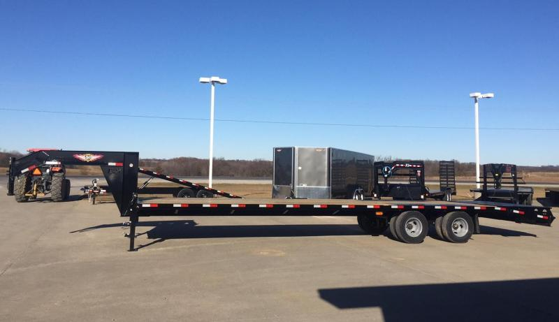 2020 H and H Trailer Super Deluxe 28'+5' Goose-Neck Flatbed Trailer