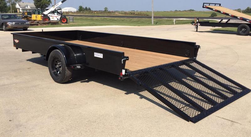 2020 H and H Trailer 14' Solid Side Utility Utility Trailer