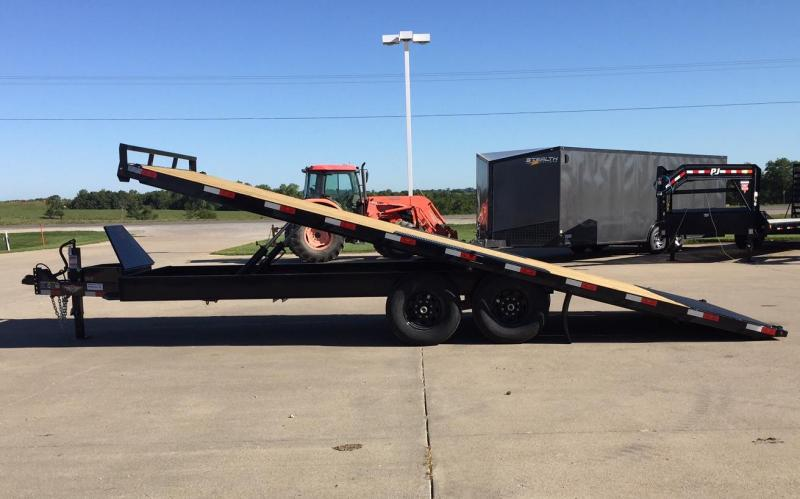 2020 H and H Trailer 22' Power Tilt Deck-Over Equipment Trailer