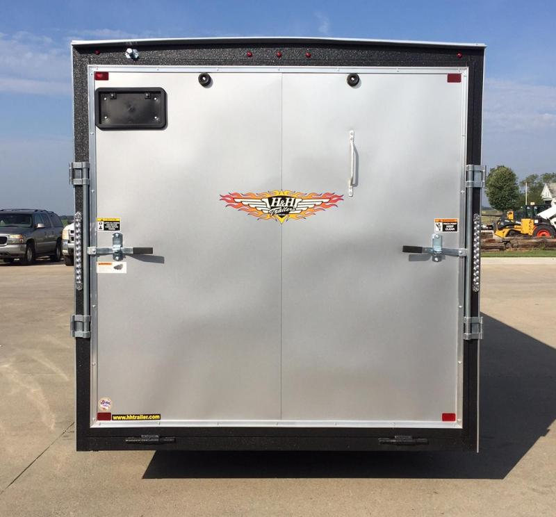 2020 H and H Trailer 16 Flat Top V-Nose Cargo Enclosed Cargo Trailer