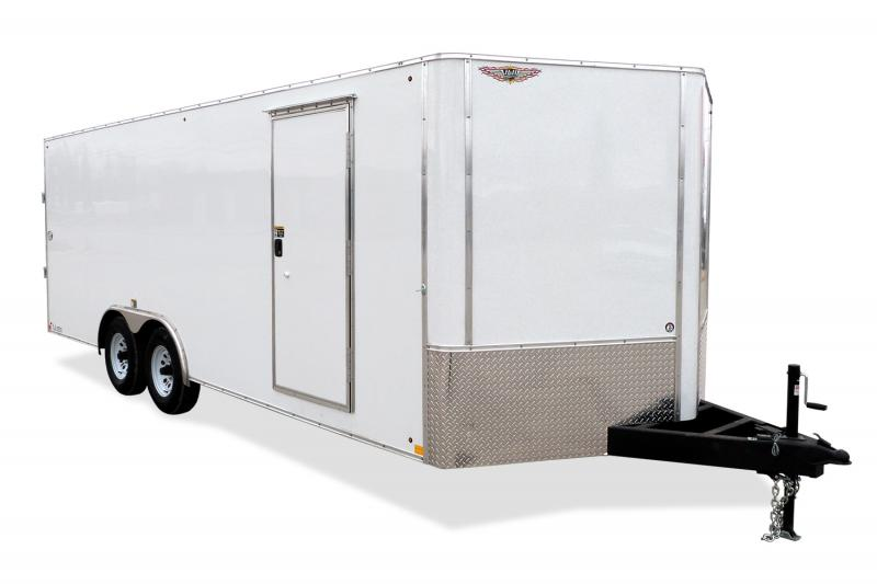 """2020 H & H Trailers 101""""x24' Flat Top V-Nose Car / Racing Trailer"""