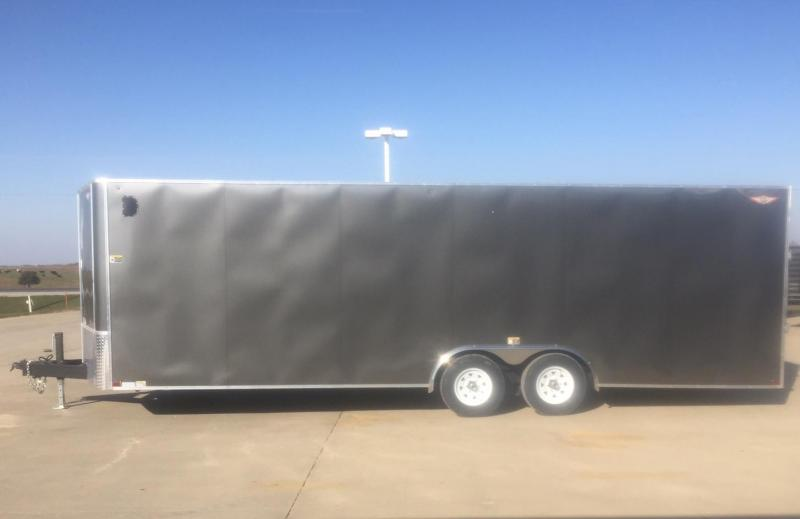 "2020 H & H Trailers 101""x24' Flat Top V-Nose Car / Racing Trailer"