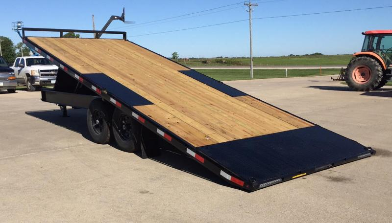 2020 H and H Trailer 22' Power Tilt Deck-Over Equipment Trailer