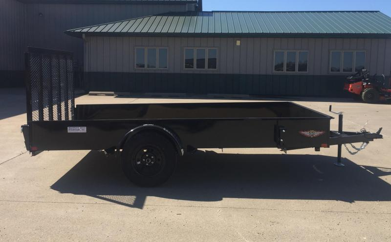 "2020 H and H Trailer 82"" x 12' Solid Side Utility Trailer"