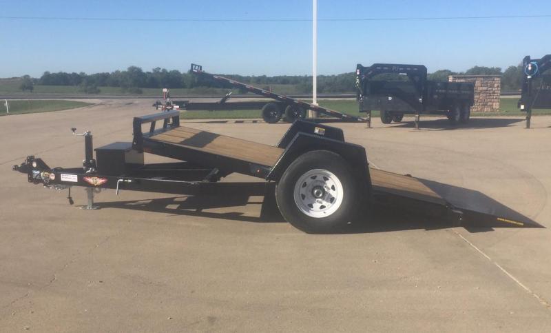2020 H and H Trailer 12' Single Axle Gravity Tilt Equipment Trailer