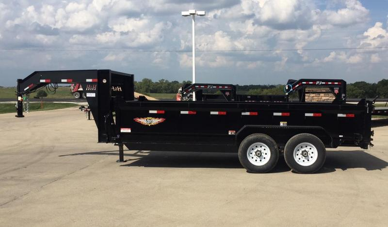 2019 H and H Trailer 16' Goose-Neck Dump Trailer