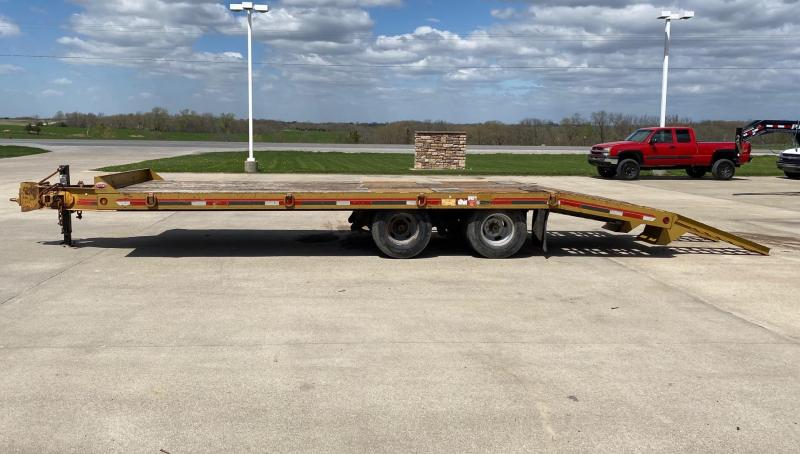 2013 Interstate 24' Pintle Hitch Tandem Dual with Dovetail Flatbed Trailer
