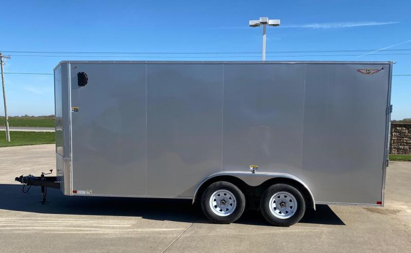 2020 H and H Trailers 7'x16' Flat Top V-Nose Enclosed Cargo Trailer