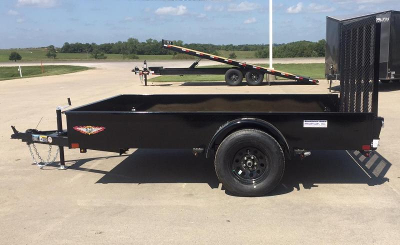 "2020 H and H Trailer 76"" x 10' Solid Side Utility Trailer"