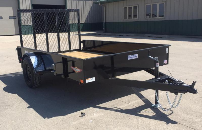 "2020 H and H Trailer 77"" x 10' Solid Side Utility Trailer"