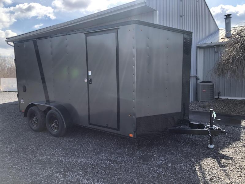 Look 714DLX cargo trailer black out