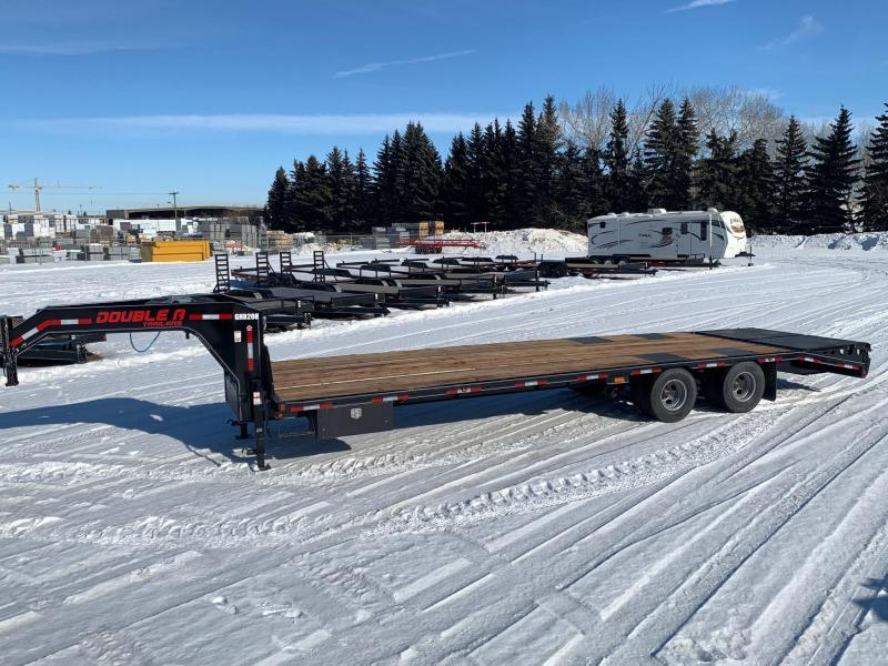 "2020 Double A Trailers 102"" x 30FT Engineered Beam Gooseneck Trailer"