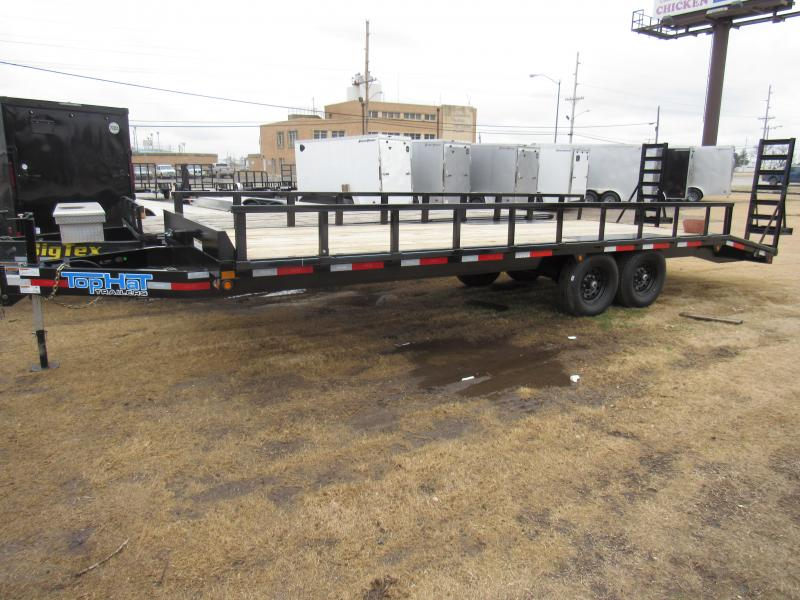 "2020 Top Hat Trailers 24' X 96"" 14K GVWR Deckover Flatbed Trailer"