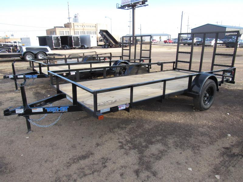 "2020 Top Hat Trailers Derby Sr Angle 77"" X 12' Utility Trailer"