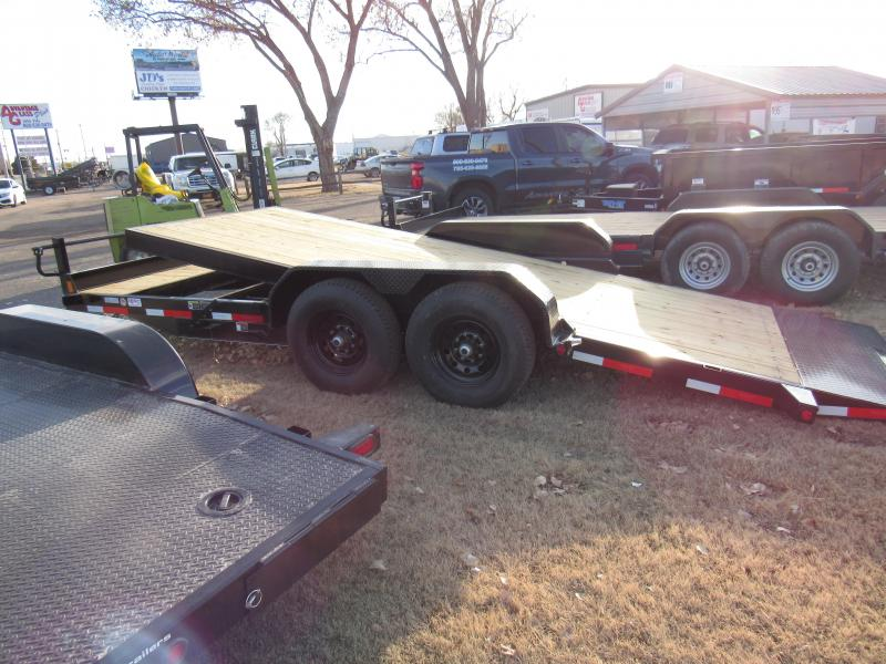 "2020 Top Hat Trailers 83"" X 20' Tilt Deck Shock 14K Equipment Trailer"
