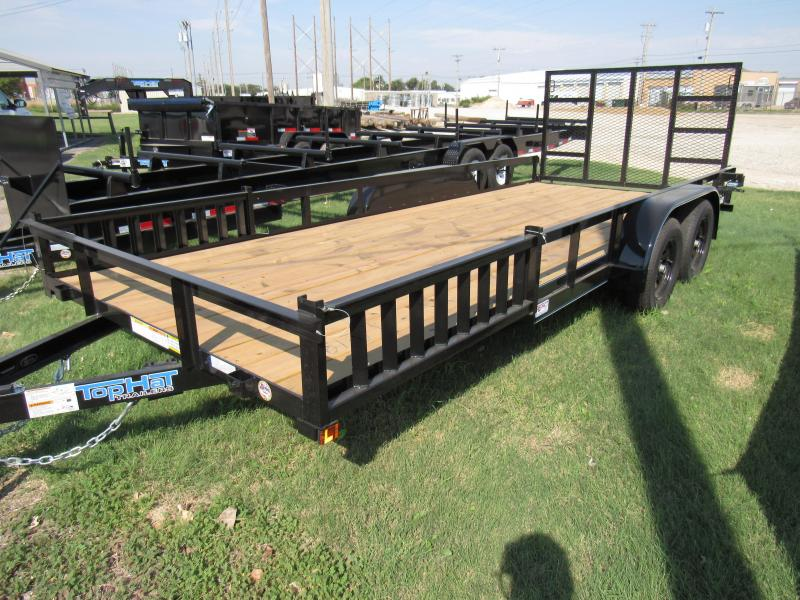 2020 Top Hat Trailers 83 X 18 Econo Angle Tandem Utility Trailer