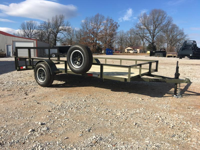 2020 Ozark 76x14 Army Green Utility Trailer