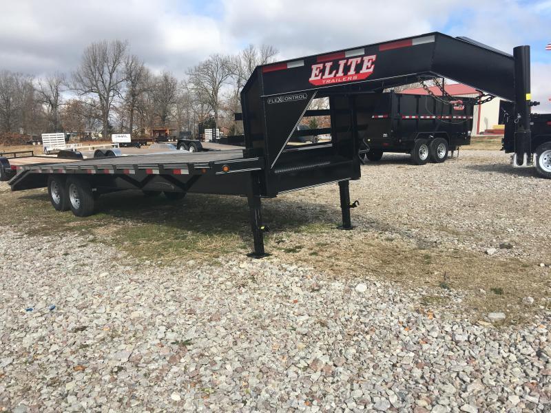 Elite 8.5 x 25 14K Deck Over Trailer w/ 2x Pop Ramps
