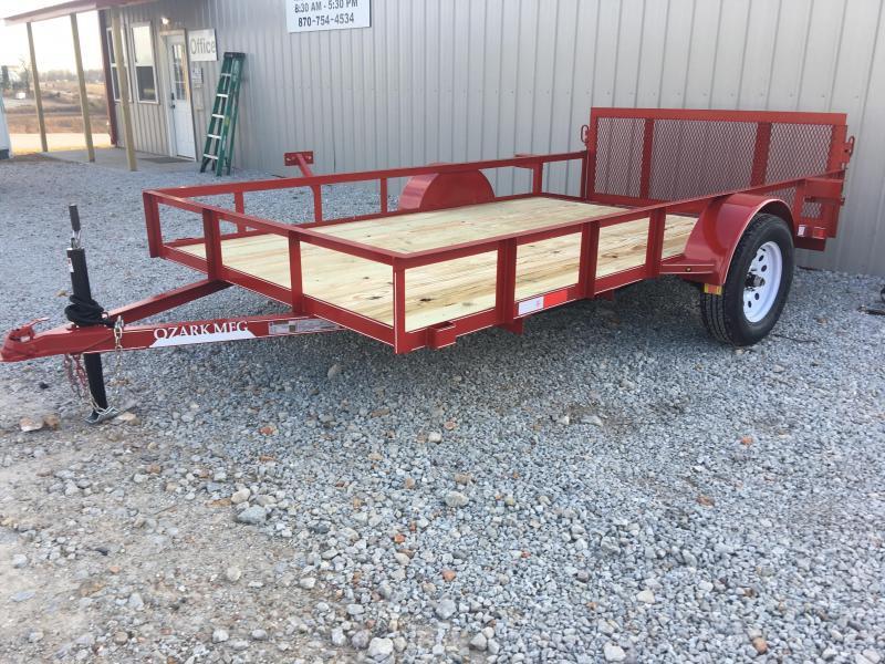2020 Ozark 76x12 Red Utility Trailer