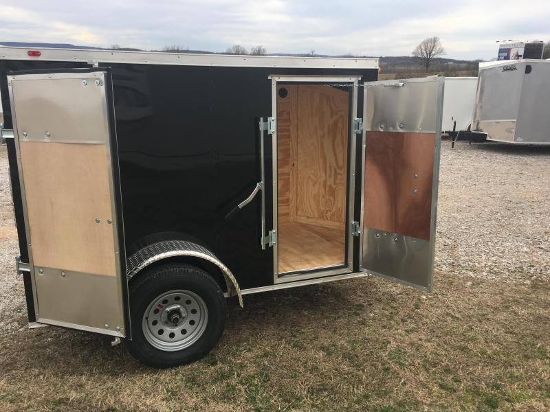 2020 Eagle Cargo 5x8 Barn Door Cargo Trailer Enclosed Cargo Trailer