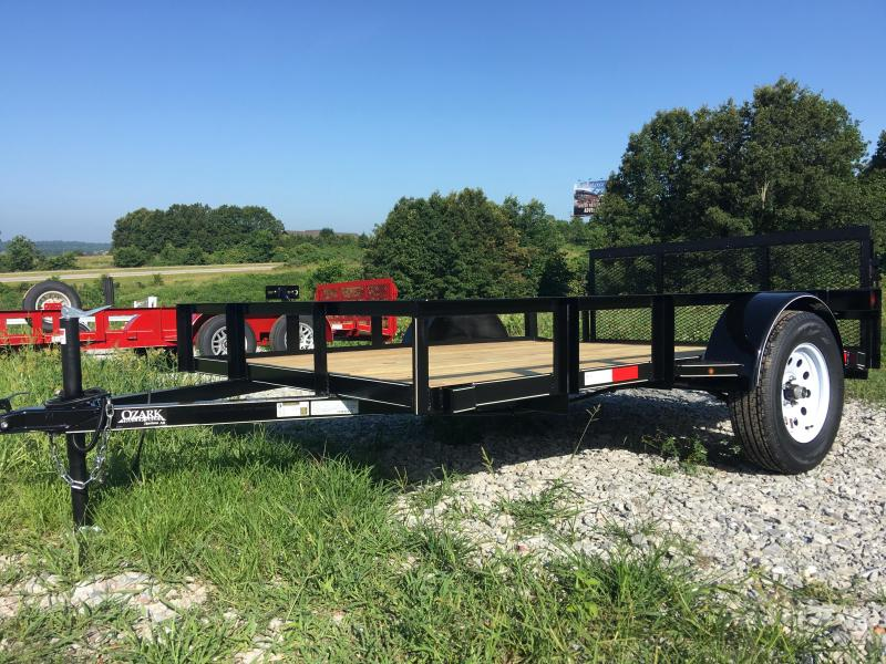 "2020 Ozark 76x12 Utility Trailer with Dove and 30"" Gate Utility Trailer"