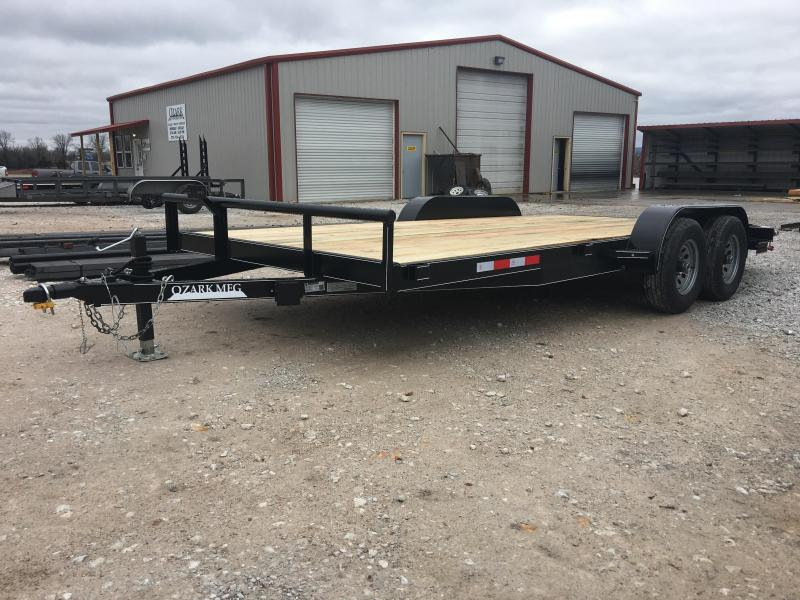 2020 Ozark 82x18 10K Car Hauler Equipment Trailer