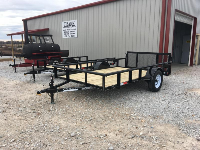 2020 Ozark 76x12 Pipe Top Utility Trailer