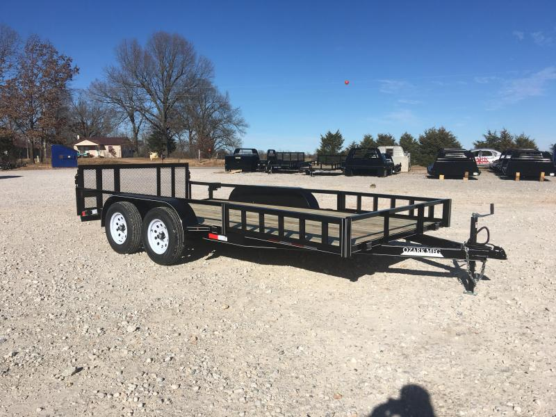 2020 Ozark 82x16 With Side Load Ramps Utility Trailer